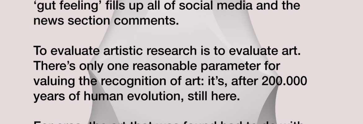 Artistic Research the postresearch condition conference